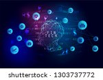 abstract artificial... | Shutterstock .eps vector #1303737772
