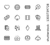 simple icon set casino ... | Shutterstock .eps vector #1303739728
