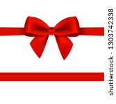 red bow isolated  | Shutterstock . vector #1303742338