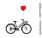 bicycle with heart  | Shutterstock . vector #1303753828