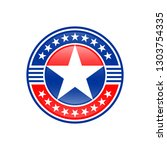 american manufacturing stickers.... | Shutterstock .eps vector #1303754335