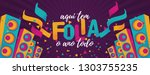 popular event in brazil.... | Shutterstock .eps vector #1303755235