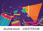 popular event in brazil.... | Shutterstock .eps vector #1303755238