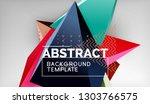 3d geometric triangular shapes... | Shutterstock .eps vector #1303766575