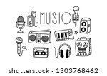 vectoe set of icons related to... | Shutterstock .eps vector #1303768462