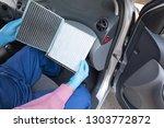 clean and dirty cabin pollen...   Shutterstock . vector #1303772872