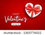 happy valentine's day message... | Shutterstock .eps vector #1303776022