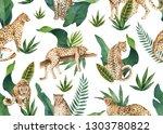 watercolor seamless pattern of... | Shutterstock . vector #1303780822