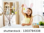 easter  holidays and people... | Shutterstock . vector #1303784338