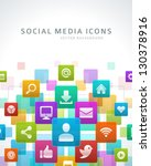 social media icons vector... | Shutterstock .eps vector #130378916