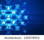 social media icons and light... | Shutterstock .eps vector #130378922