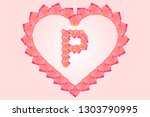Stock photo love rose petal letter p background image rose petal letters alphabet characters constructed from 1303790995