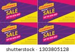 poster and banner template sale ... | Shutterstock .eps vector #1303805128