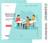 site template  teamwork ... | Shutterstock .eps vector #1303805512