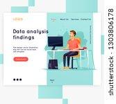 landing page. website template. ... | Shutterstock .eps vector #1303806178