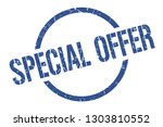 special offer blue round stamp | Shutterstock .eps vector #1303810552
