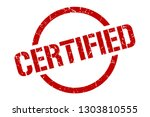 certified red round stamp | Shutterstock .eps vector #1303810555