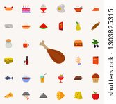roast turkey icon. resturant... | Shutterstock . vector #1303825315