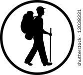 vector traveller icon. black... | Shutterstock .eps vector #13038331