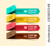 four steps vector infographic... | Shutterstock .eps vector #1303833148