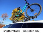 bicycle on the bike rack | Shutterstock . vector #1303834432
