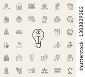 bulb sign icon. automation...   Shutterstock . vector #1303839382