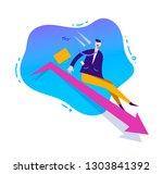 vector business illustration ... | Shutterstock .eps vector #1303841392