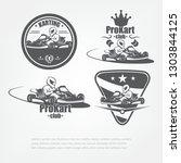 set in kart emblems....   Shutterstock . vector #1303844125