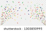 shot of confetti crackers on a... | Shutterstock .eps vector #1303850995