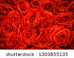 Stock photo romantic red natural roses background 1303855135