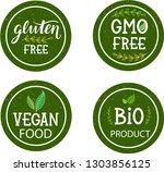 bio product  vegan food  gluten ... | Shutterstock .eps vector #1303856125