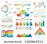 infographic elements set with... | Shutterstock .eps vector #1303865512