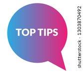 top tips sign label. top tips...   Shutterstock .eps vector #1303870492