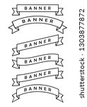 set of  ribbon banner icon arch ... | Shutterstock .eps vector #1303877872