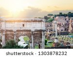 triumphal marble arch of... | Shutterstock . vector #1303878232