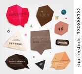 labels vector set  modern style.... | Shutterstock .eps vector #130388132