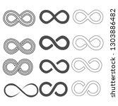 infinity vector symbol set   Shutterstock .eps vector #1303886482