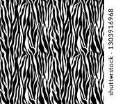Zebra Print Seamless Pattern  ...