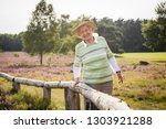 over 90 years old senior lady... | Shutterstock . vector #1303921288