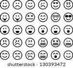 emoticons | Shutterstock .eps vector #130393472