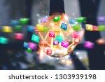 new ideas. innovation and... | Shutterstock . vector #1303939198
