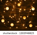 wooden background or table with ... | Shutterstock . vector #1303948825