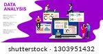 flat vector landing page... | Shutterstock .eps vector #1303951432