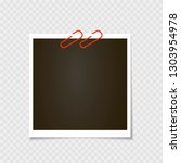 photo frame with pin  staple ... | Shutterstock .eps vector #1303954978