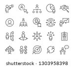 set of job seach icons  such as ... | Shutterstock .eps vector #1303958398