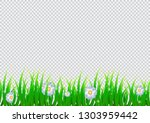 spring isolated background with ... | Shutterstock .eps vector #1303959442
