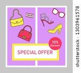 special offer social media... | Shutterstock .eps vector #1303961578