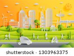 concept of smart city with... | Shutterstock .eps vector #1303963375
