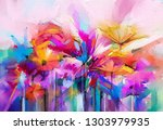 abstract colorful oil  acrylic... | Shutterstock . vector #1303979935
