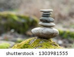 Closeup Of Stone Balance On...